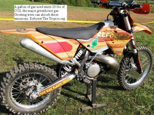 Carbon Balanced Motorcycle at the Unadilla GNCC Woods Race